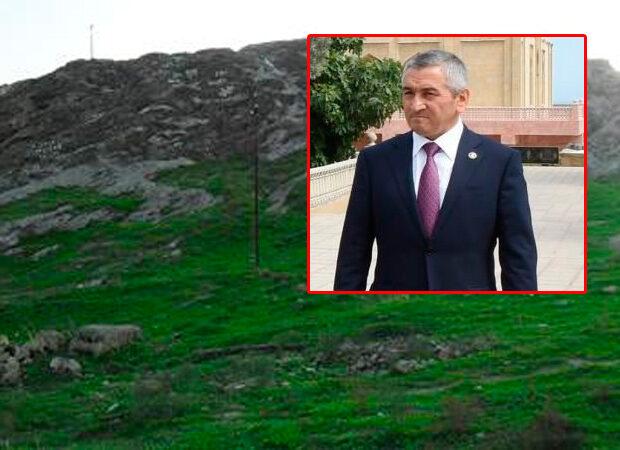 """İcra başçısı """"Razin dağı""""nın qabağını satıb (FOTO)"""
