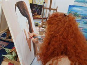 Украинская художница нарисовала портрет Мехрибан Алиевой