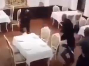 Azərbaycanlılara məxsus restorana hücum – Erməni vəhşiliyi… VİDEO