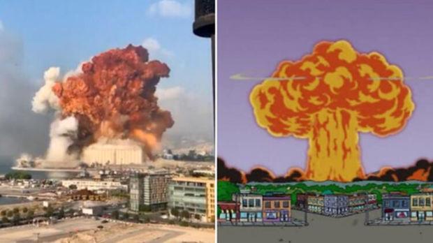 """""""Simpsonlar"""" Beyrutdakı partlayışı da """"təxmin edib""""? – FOTO"""