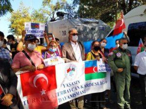 İstanbulda Azərbaycan Ordusuna dəstək aksiyası – FOTO