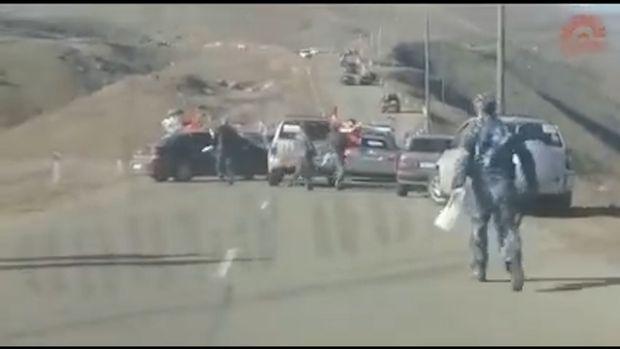 Ermənilər Ağdərədən qaçırlar – VİDEO