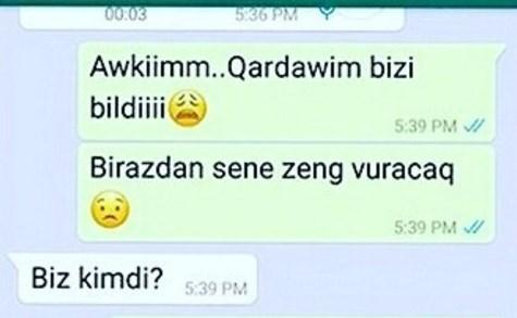 """Sevgililərin """"WhatsApp"""" yazışması – """"Sən kimsən, cəhənnəm ol."""""""