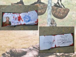 Ordumuz tərəfindən öldürülən erməni komandirinin vəsiqəsinin fotoları yayılıb – FOTO