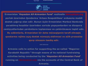 Ermənistan banklarının Qarabağdakı rejimə ayırdığı maliyyə yardımı ifşa edildi