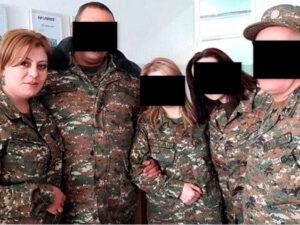 Öldürülən erməni qadın snayperinin FOTOLARI