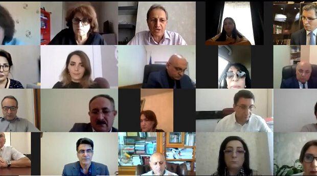 İnsan Hüquqları Komitəsi QHT-lərlə video-konfrans keçirib – Fotolar