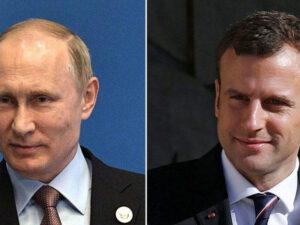 Putin və Makron Dağlıq Qarabağdakı vəziyyəti müzakirə ediblər