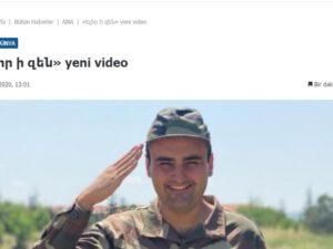 """Ermənistan mətbuatı məşhur türk bloqçunu öz ordu sıralarına """"qatıb"""""""