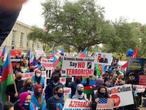 Hyustonda erməni təcavüzünə qarşı etiraz aksiyası – FOTO