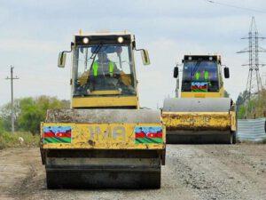 Suqovuşan və Talış kəndlərinə gedən yolların bərpasına başlandı – FOTO