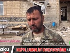 Ermənilərin törətdiyi Naftalan faciəsi rusiyalı jurnalisti dəhşətə gətirdi – VİDEO