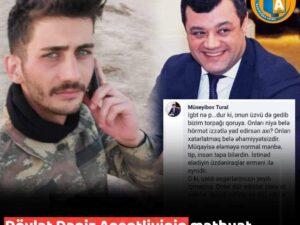 Azərbaycanda mətbuat katibi şəhidi təhqir etdi – FOTOFAKT
