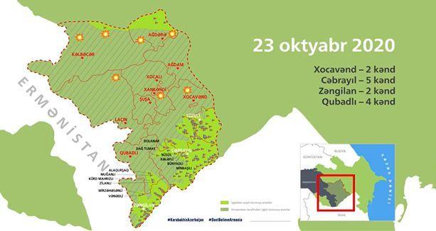 Azərbaycan ordusunun işğaldan azad etdiyi 154 məntəqə interaktiv xəritədə – VİDEO