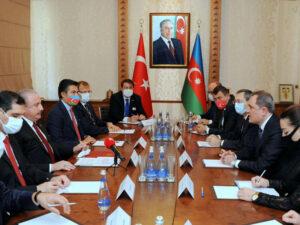 Ceyhun Bayramov Türkiyə parlamentinin sədri ilə görüşüb – FOTO