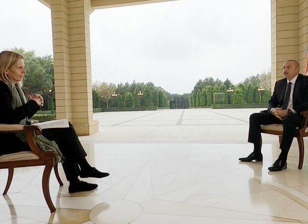 """Prezident İlham Əliyevdən BBC müxbirinə: """"Mənim sizin şahid olduqlarınızla bağlı şübhələrim var"""""""