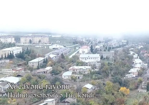 İşğaldan azad olunan Hadrut qəsəbəsi və Tuğ kəndi havadan görüntüləndi – VİDEO