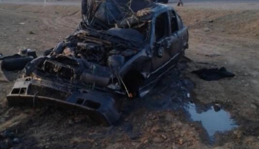 Füzulidə minaya düşən mülki avtomobildən eksklüziv görüntülər – VİDEO