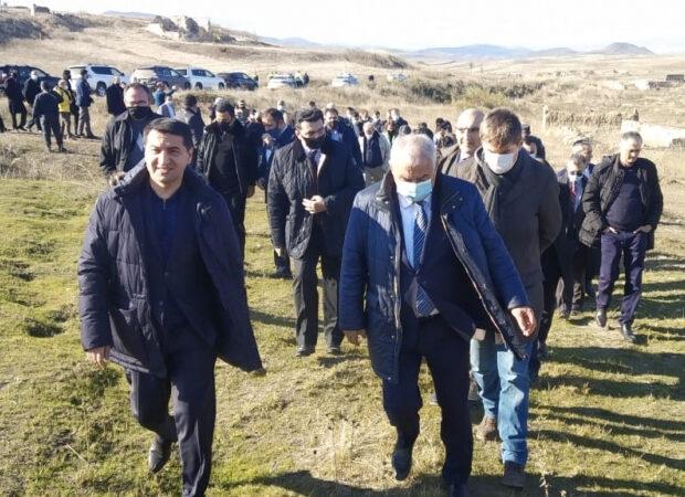 Diplomatlar Füzulidə erməni vəhşiliyinin şahidi oldu – FOTO