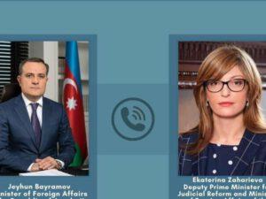 Ceyhun Bayramov Zaxariyeva ilə telefonla danışdı