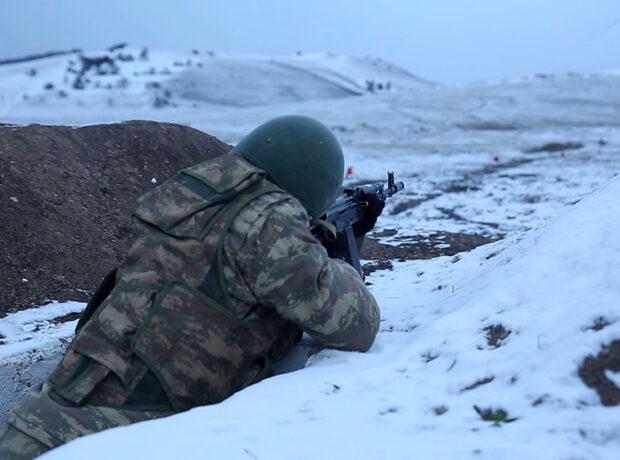 Azərbaycan Ordusunun bölmələri döyüş atışları keçirir – VİDEO