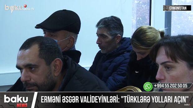 """Erməni əsgər valideynləri ayağa qalxdı: """"Türklərə yolları açın"""" – VİDEO"""