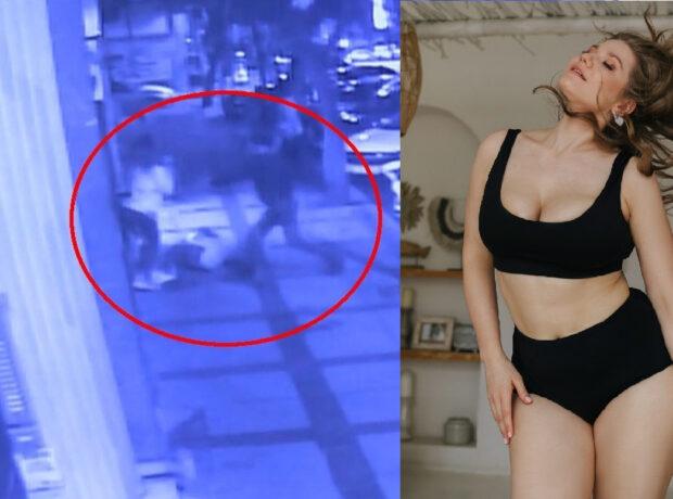 Rus modelin İstanbulda bıçaqlandığı anlar kameraya düşdü – ANBAAN VİDEO