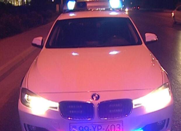 DYP-nin saxladığı avtomobilin sürücüsü düşüb qaçmaq istədi – BAKIDA