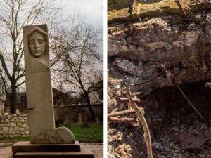 Ermənilər Natavanın məzarını dağıdıb, sümüklərini aparıblar – Foto\Video