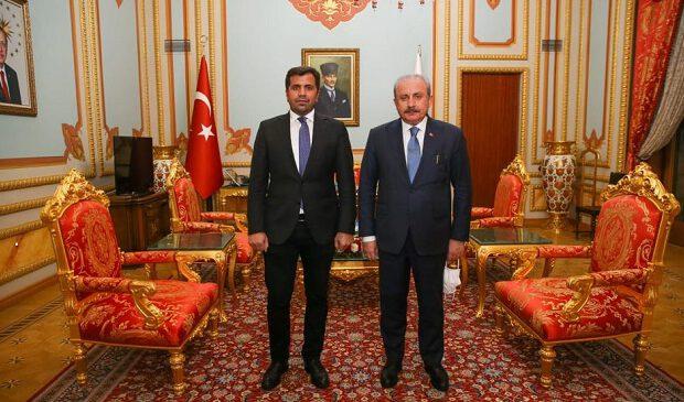 Elşad Eyvazlı Türkiyə parlamentinin sədri ilə görüşüb