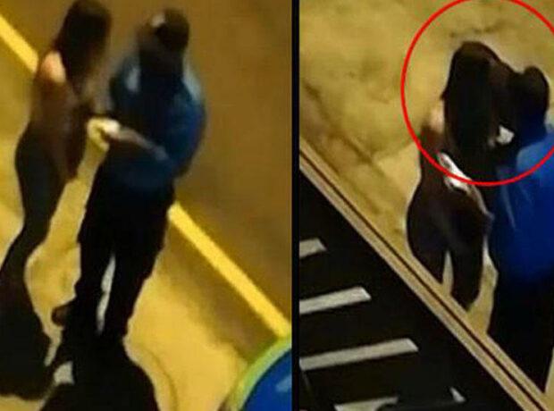 Karantini pozan qız cərimə yazılmasın deyə polisi öpdü, kameraya düşdü – VİDEO