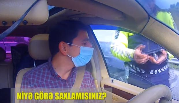 YPX əməkdaşı sürücünü nəyə görə saxladığını izah edə bilmədi – Video