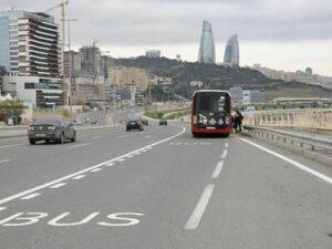 Avtobus zolaqlarının 24 saat qüvvədə olduğu küçə və prospekt AÇIQLANDI