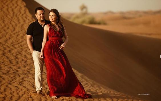 Sevda həyat yoldaşı ilə Dubay səhrasında – FOTO