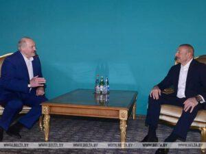 İlham Əliyev və Lukaşenko mətbuata bəyanatlarla çıxış etdilər