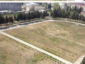 Böyük futbola ehtiyac olmayanda: Sumqayıtda stadionun ortasından yol çəkildi – VİDEO