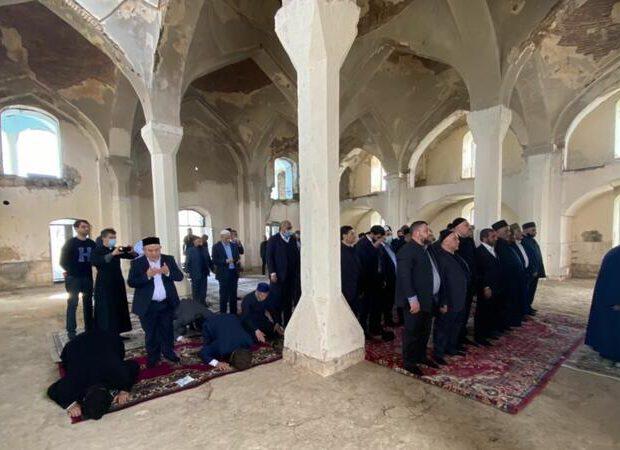 Dini icma rəhbərləri Ağdam Cümə məscidini ziyarət etdi – FOTO
