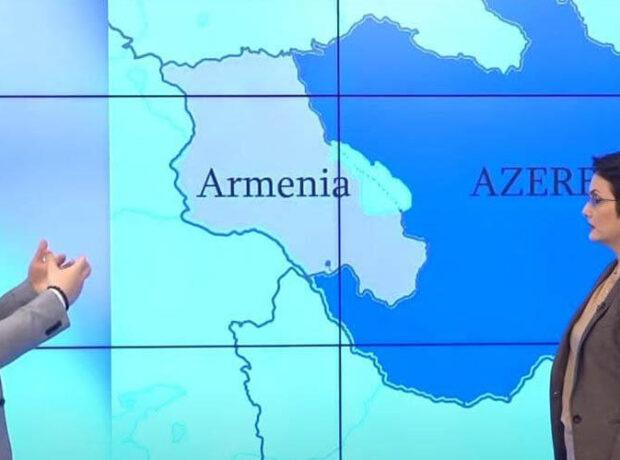 """Ermənilər Zəngəzurun """"yeni xəritəsi""""ni göstərdilər"""