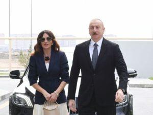 Prezident və birinci xanım Pirşağı qəsəbəsində