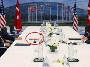 Ərdoğan-Bayden görüşündə masa üzərindəki maraqlı detal – FOTO