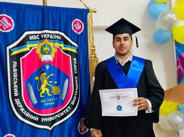 Сын главы международного альянса «Азербайджан-Украина» получил диплом Львовского госуниверситета внутренних дел