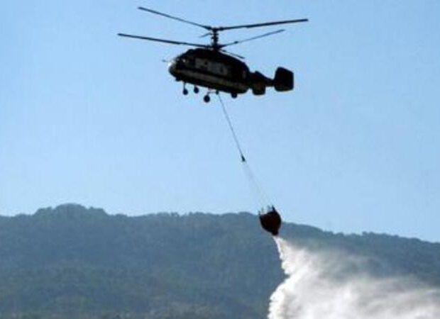 Qəbələdə güclü yanğın: FHN 2-ci helikopteri göndərdi – VİDEO