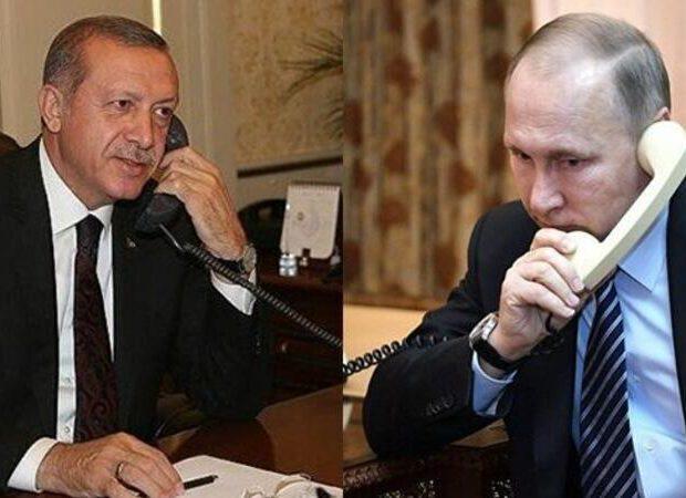 Putin Ərdoğana zəng etdi