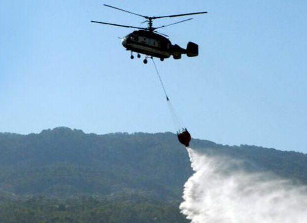 Azərbaycanda GÜCLÜ YANĞIN: 2 helikopter havaya qaldırıldı – VİDEO