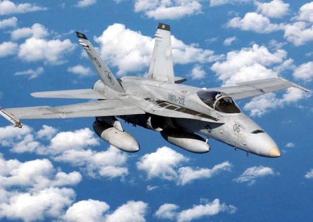 """ABŞ-a məxsus """"F-18"""" hərbi təyyarələr Kabil üzərində uçur – VİDEO"""