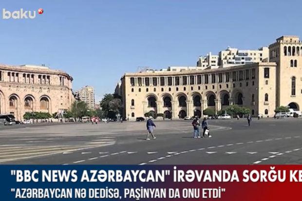 """""""BBC news Azərbaycan"""" İrəvanda sorğu keçirib – VİDEO"""
