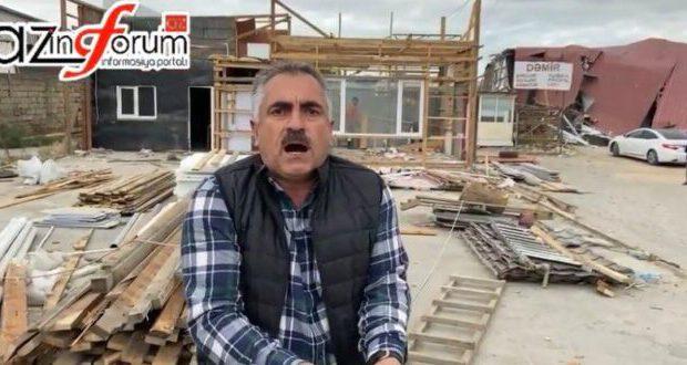 """""""Azərenerji"""" qanuni fəaliyyət göstərən """"obyekti"""" darmadağın etdi – VİDEOREPORTAJ"""