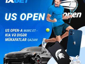 US Open`ə mərc edin və 1xBet`in ən yaxşı aksiyasında KIA Stinger qazanın!