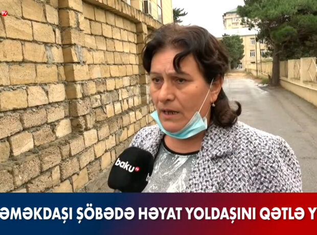Polis əri tərəfindən güllələnib öldürülən qadının xalası hadisə yerində – VİDEO