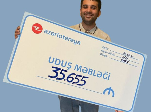 """5/36"" tirajlı lotereyasında 35.655 manatlıq ""Cek Pot"" uduldu"